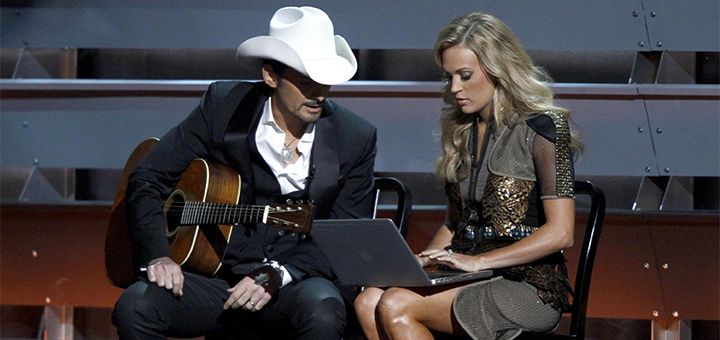 Brad Paisley and Carrie Underwood CMA Awards
