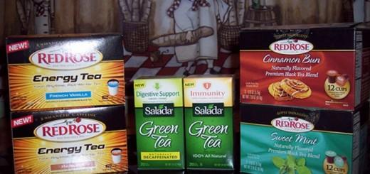 Salada Green Tea and Red Rose Teas