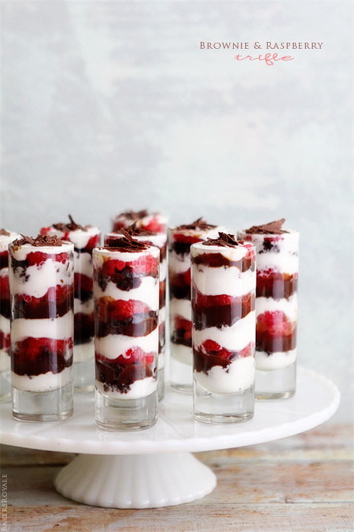 brownie and raspberry trifle