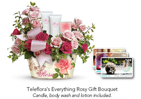 Teleflora Everything Rosy Gift Bouquet