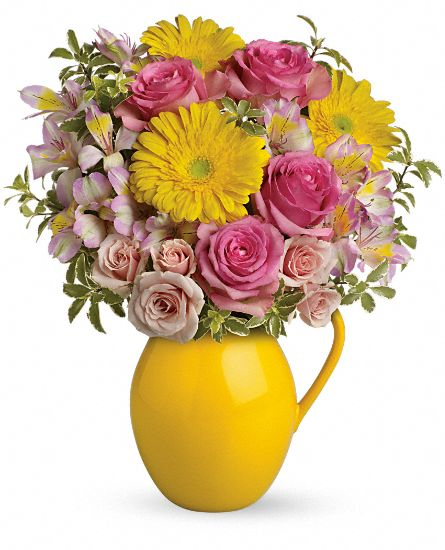 Teleflora Sunny Day Pitcher Of Charm