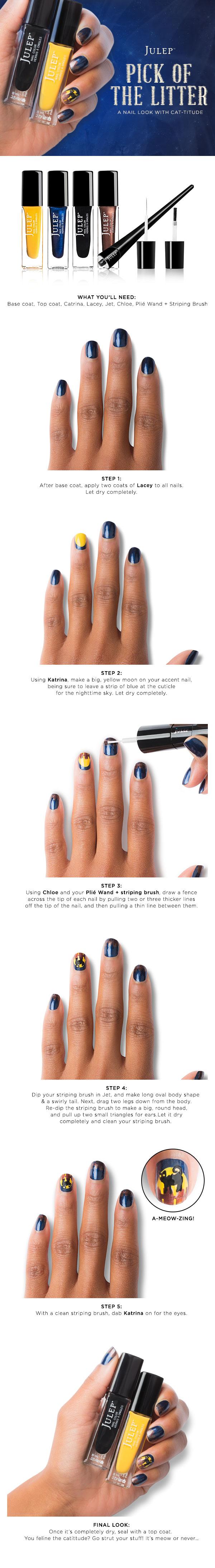 Julep Halloween nail art tutorial