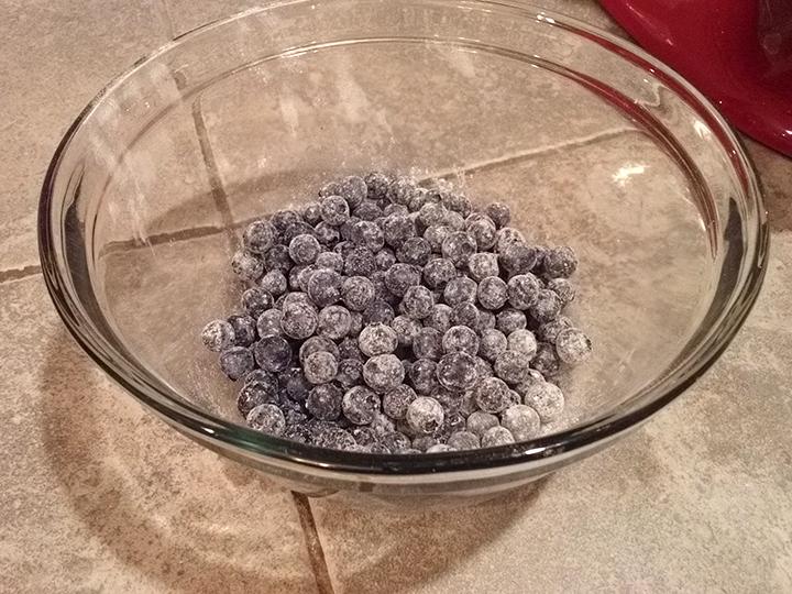 blueberry flour bath