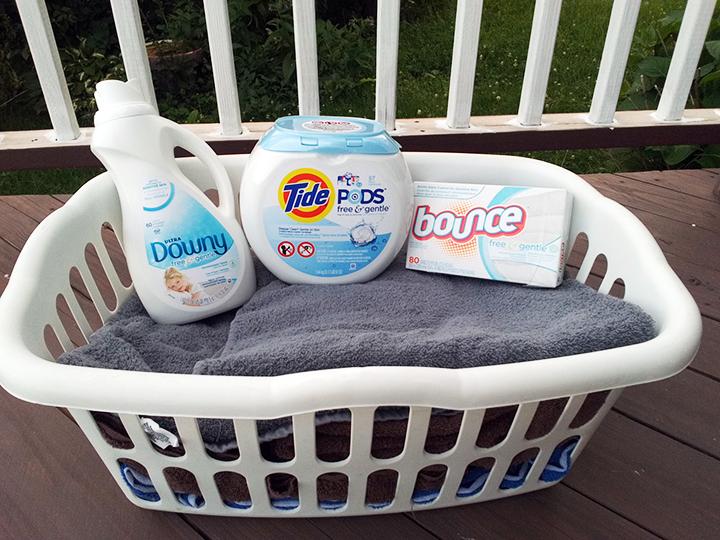 P&G Free & Gentle laundry regimen
