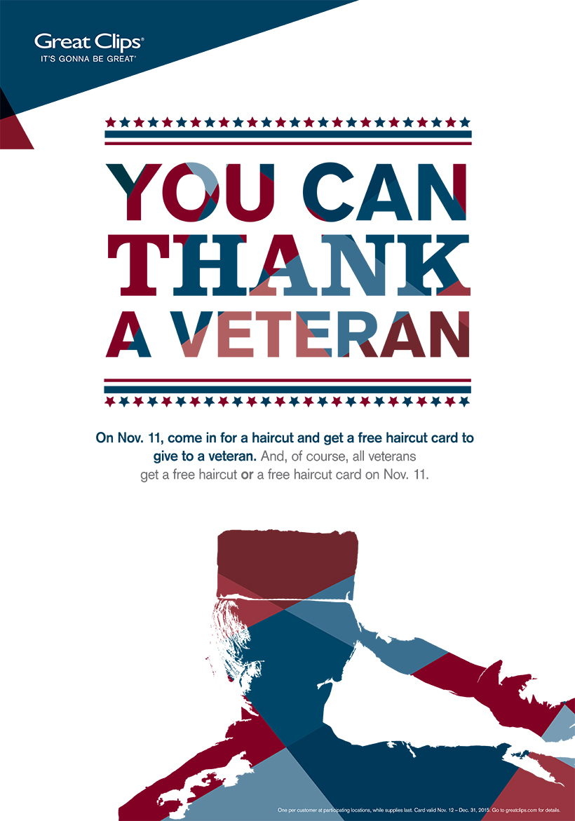 Thank a Veteran with Great Clips