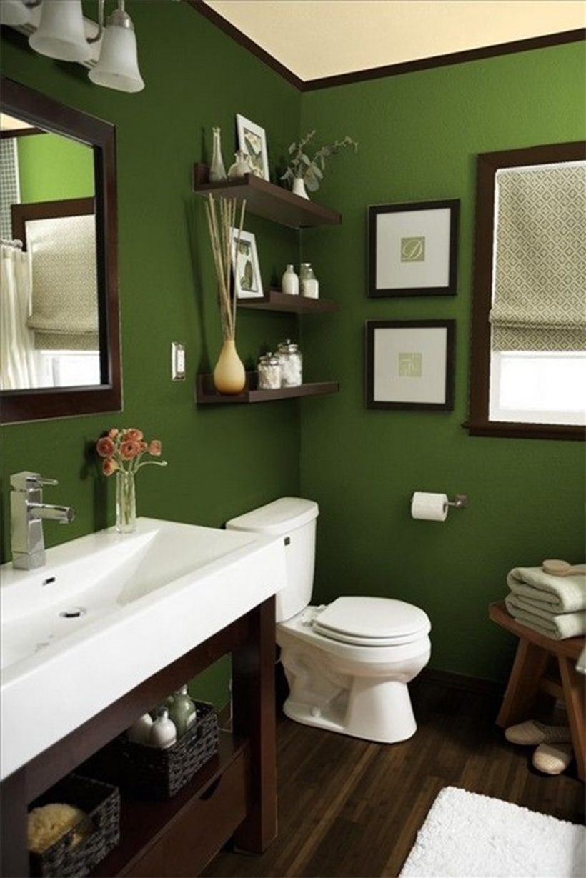 6 incredible bathrooms you 39 ll be lusting after woman tribune for Green bathroom paint colors