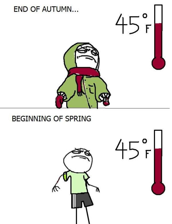 end of autumn beginning of spring meme