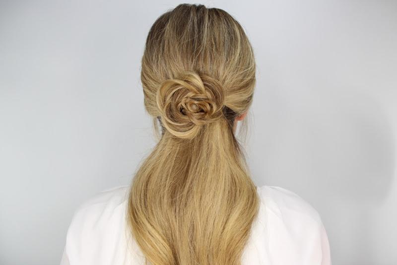 rosette embellished ponytail