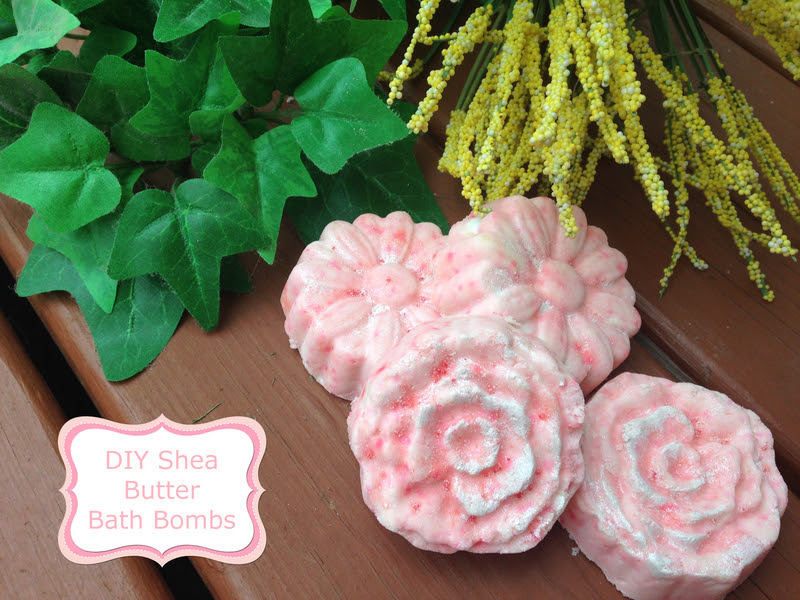 shea butter flower bath bombs