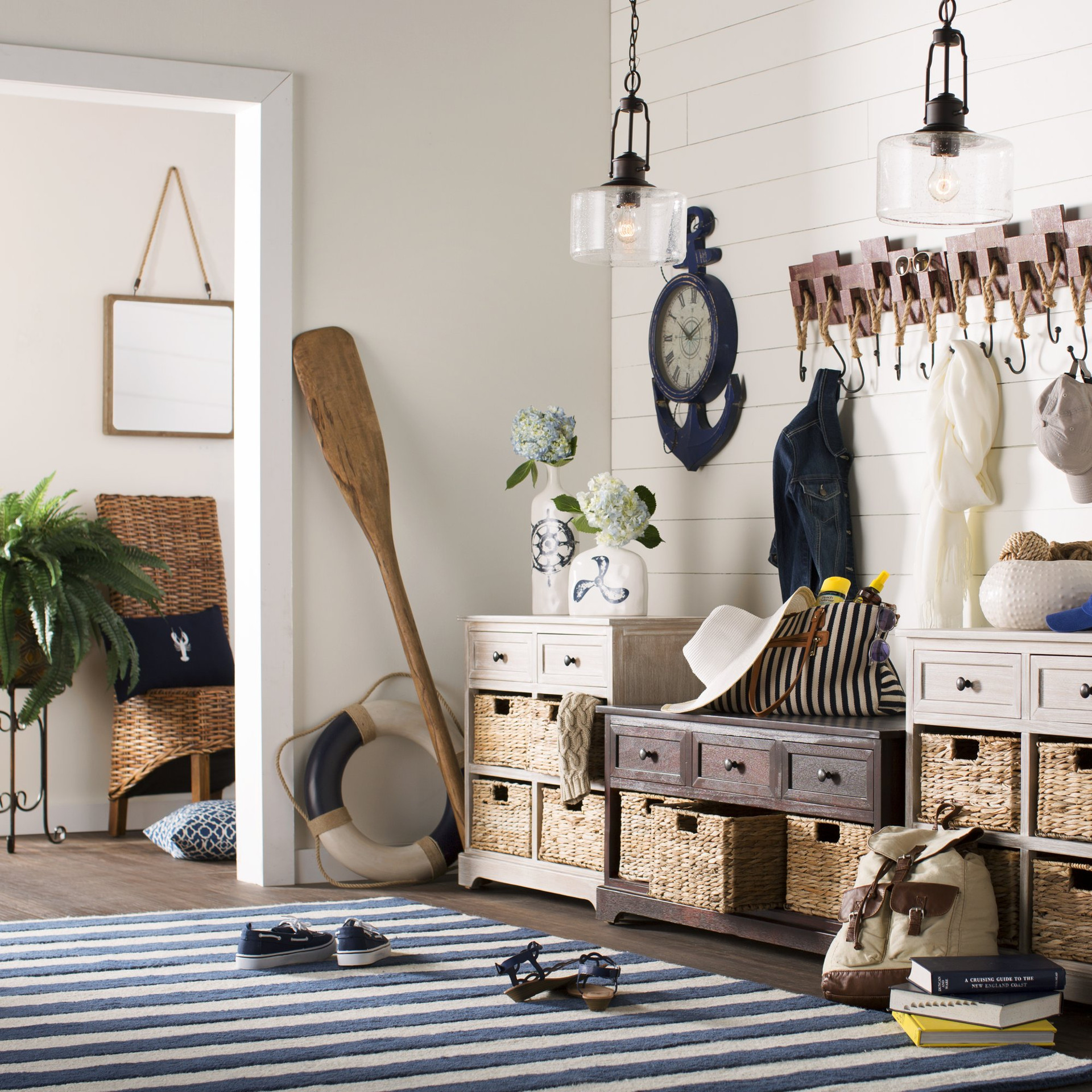 Nautical Foyer Ideas : Ways to give your space some serious beachy vibes