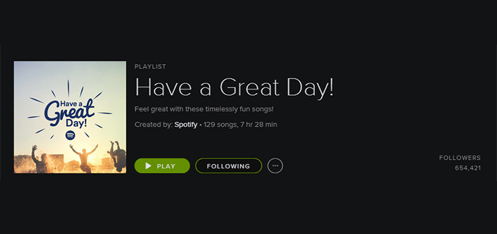 Have a Great Day! Spotify playlist