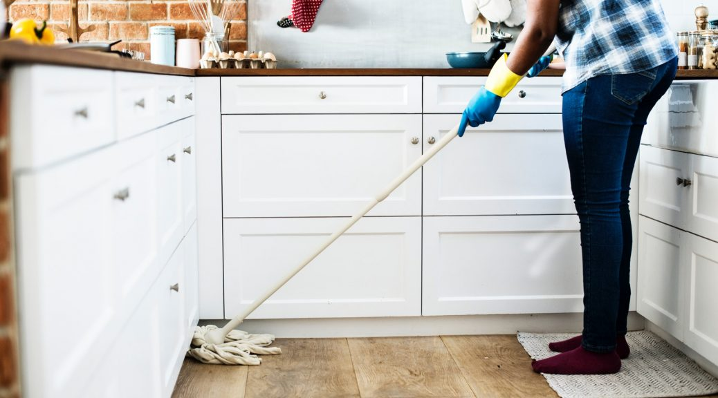 mopping floor